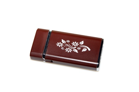metal lighter on a white background Stock Photo - 10407727