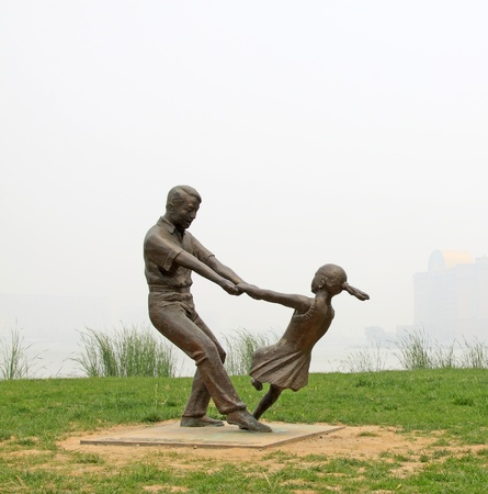 character sculpture in the green lawn in china Stock Photo - 10580363