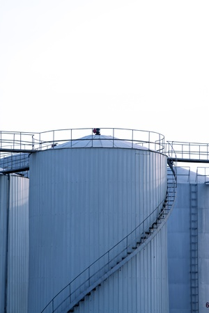 closeup of oil storage tank Stock Photo - 10842576
