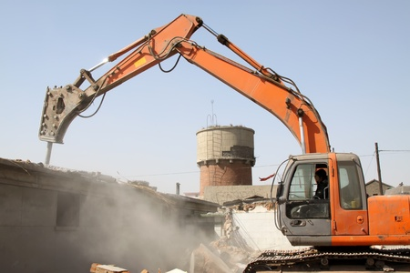 sabotage: destroyed house and machinery in china