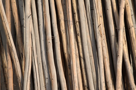 wood material placed in order in a construction site Stock Photo - 10842599