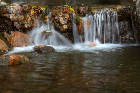 water feature: stream in mountain in a geological park Stock Photo