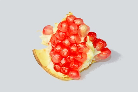 closeup of pomegranate fruit pulp photo