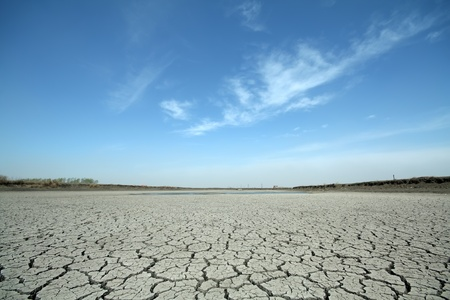 cracks in the land in rural areas, northern China Standard-Bild