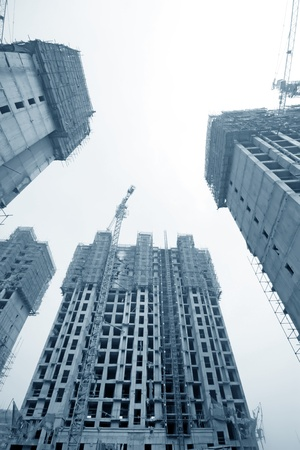 closeup of construction site in china photo