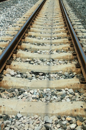 closeup of railway tracks in china Stock Photo - 11424449