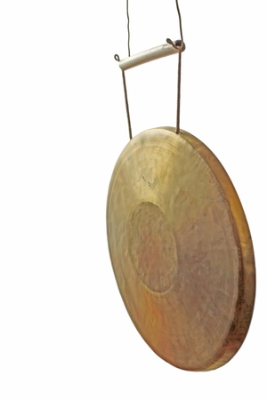 closeup of gongs in white background, instruments-gongs  photo