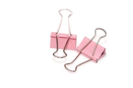 closeup of binder clip in bright background Stock Photo - 11424610