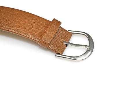 closeup of a leather watch band on a white background Stock Photo - 11424685