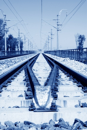 closeup of railway tracks in china Stock Photo - 11654014
