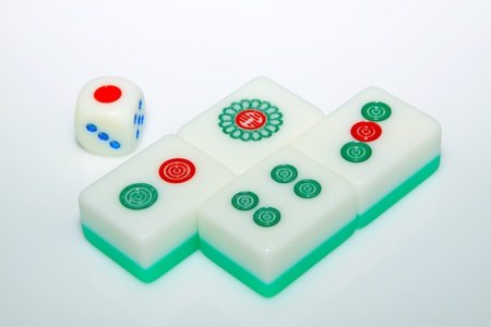 closeup of mahjong tiles Stock Photo - 11648477