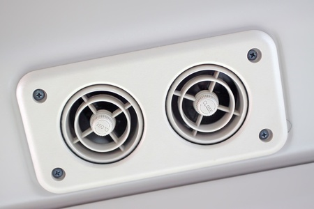 vents: air cooling vents in a car Stock Photo