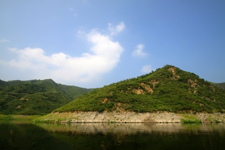 north china: reservoir scenery in north China
