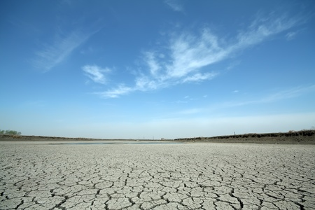 cracks in the land in rural areas, northern China Stock Photo