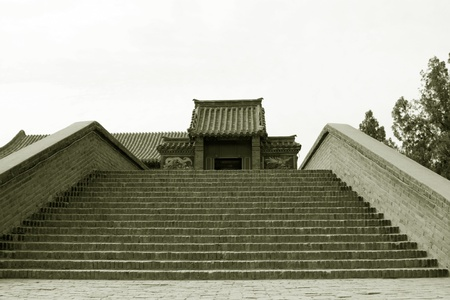 architectural style: steps of the traditional Chinese architectural style in handan city