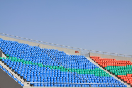 venues: seats in a modern sports venues, hebei, China  Editorial