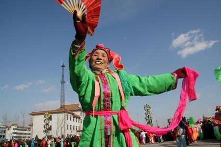 yangko, a popular rural folk dance in china Stock Photo - 12279889