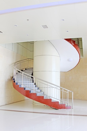 rotates: with the modern breath stair rotates in a building in Beijing
