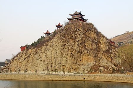 the humanities landscape: ancient Chinese traditional buildings, north china