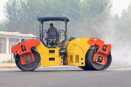 October 19, 2011  Highway construction site, Luannan County, Hebei province, China    Stock Photo - 13315973