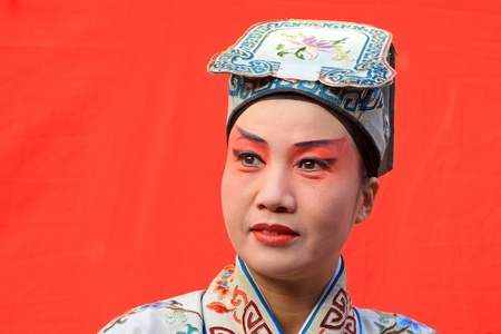 October 20, 2009 backstage makeup opera actress in a performance in the activity, China  Stock Photo - 13601926