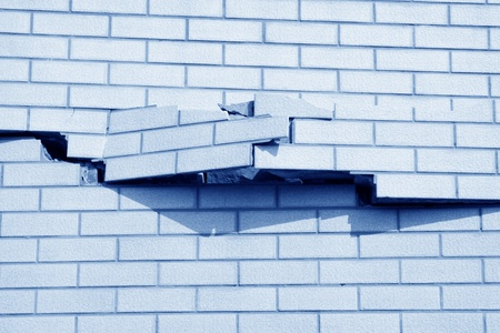 closeup of crack in tile wall Stock Photo - 13440994