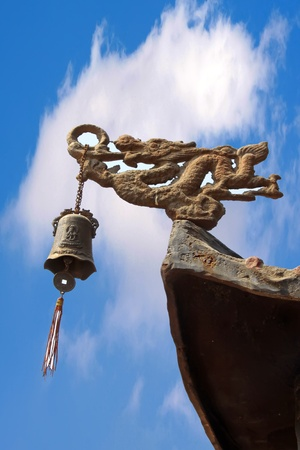 wind bell in a corner in the temple, north china Stock Photo - 13594031