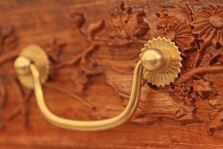 furniture hardware: chino de cobre tradicional muebles de de hardware decoraci�n de Foto de archivo