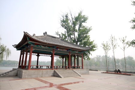 park scenery in spring, north china