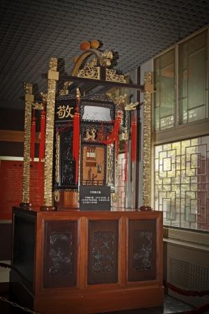 antigua decoración interior de China sigue siendo la vida en un museo, el norte de china Foto de archivo - 13626788