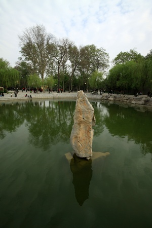 water landscape architecture in a park, north china Stock Photo - 13622975