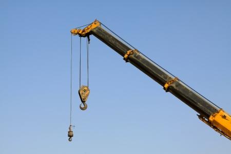 crane parts: gr�a de gancho partes, en el interior de una planta de fabricaci�n de acero, norte de china Foto de archivo