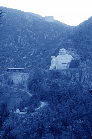 preached: Figure of Buddha in a scenic spot, north china