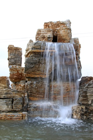 water feature: waterfall in a geological park in China
