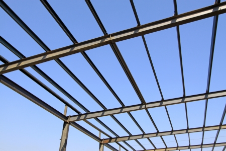 steel structure framework under the blue sky in a factory, north china Stock Photo - 17601828