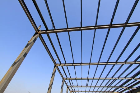 steel structure framework under the blue sky Stock Photo - 17601987
