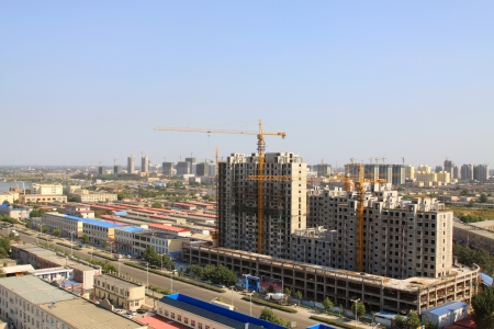 city panorama, overlooking cottage in the city, in China Stock Photo - 17586145