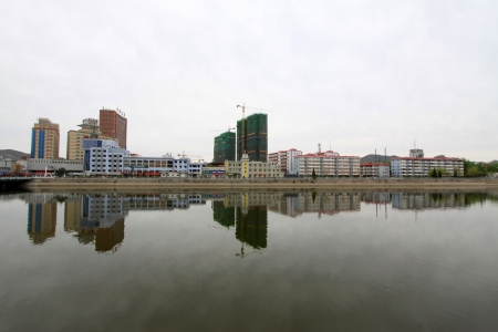 May 9, 2011, city scenery in the riverside, in zhangjiakou city, hebei province, north china    Stock Photo - 18193379