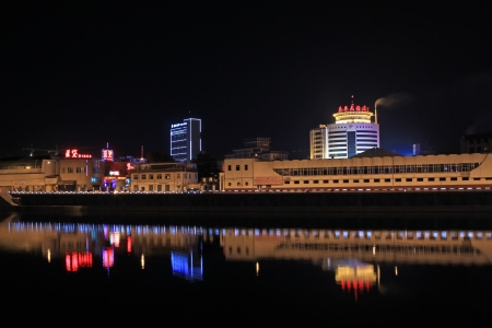 May 9, 2011, city night scenery in zhangjiakou city, hebei province, China Stock Photo - 18193338
