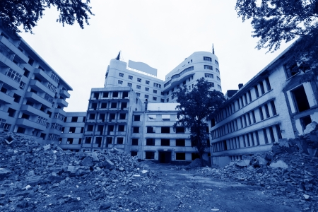 high rise buildings demolition site in zhangjiakou city, hebei province, China Stock Photo - 18192278