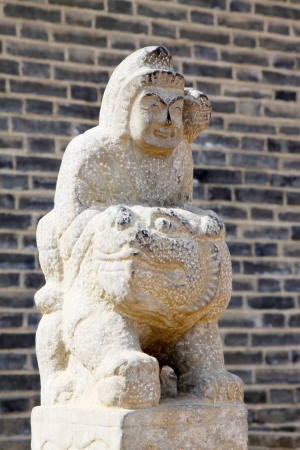 Ancient Chinese traditional stone carving in a scenic spot, in zhangjiakou city, hebei province, China Stock Photo - 18192206