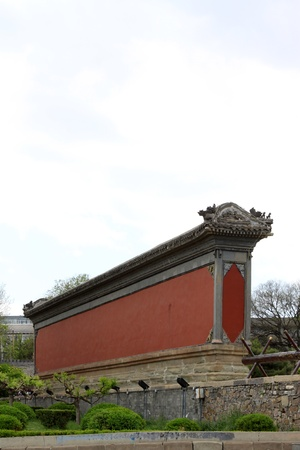 restore ancient ways: wall in the Chinese ancient garden, north china