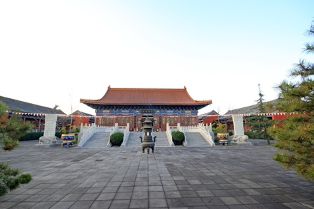 solemn: solemn architecture landscape - temple main hall, in China
