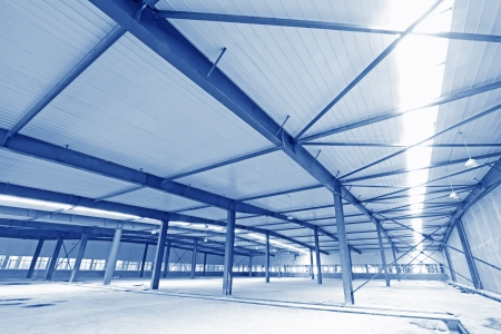 edificio industrial: La construcción de instalaciones industriales paisaje interior, el norte de China Editorial