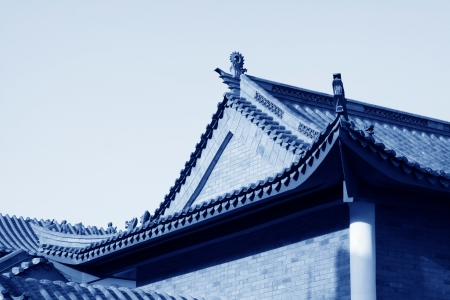 antique building under the blue sky in a park, north China Stock Photo - 19009904