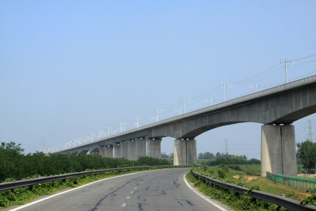 viaducts: Expressway and Viaduct in the Beijing Shenyang Expressway north china