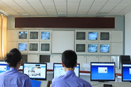 security monitoring: road traffic monitoring system in the room