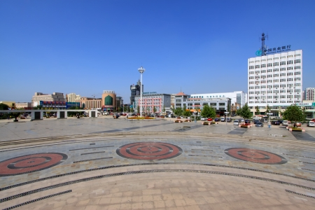 square landscape architecture in Hebei Province, China Stock Photo - 19153884