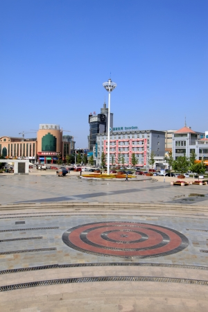 square landscape architecture in Hebei Province, China Stock Photo - 19153885