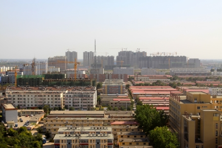city panorama, overlooking cottage in the city, in China Stock Photo - 19153888